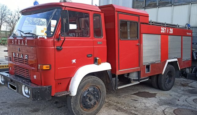 Star 200 straż wóz strażacki samochód specjalny pożarniczy, BDB stan