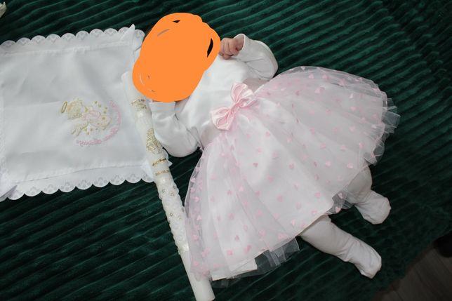 Ubranko do chrztu dla dziewczynki roz. 62