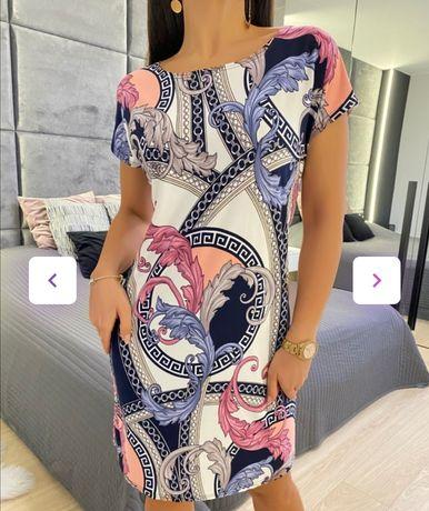 Sukienka damska S M L wzory kolory