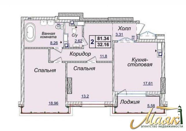 Отличная цена! Продажа 2-х комнатной квартиры в ЖК Новопечерские Липки