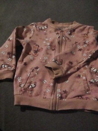 bluza x 3 w kwiarki na zamek z kieszonkami