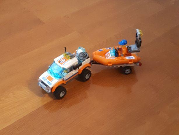 Klocki lego City samochód z przyczepką i motorówką