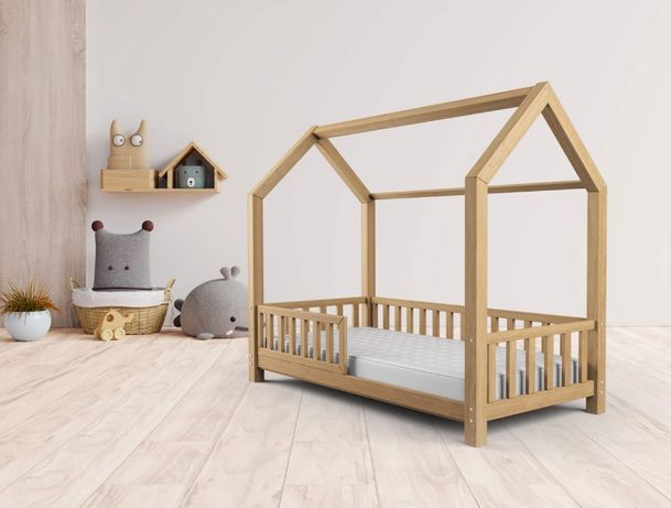 łóżko dziecięce DOMEK dla dzieci 70x140 sosna łóżeczko TOP