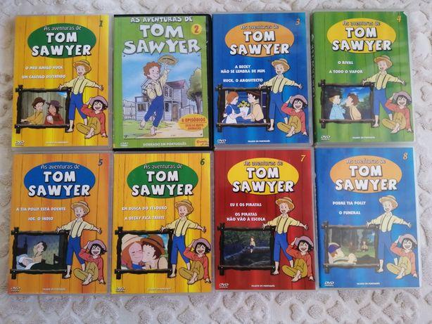 Dvd série de animação Tom Sawyer
