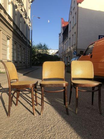 Piekne  krzesla PRL lata 60 bauhaus rattan