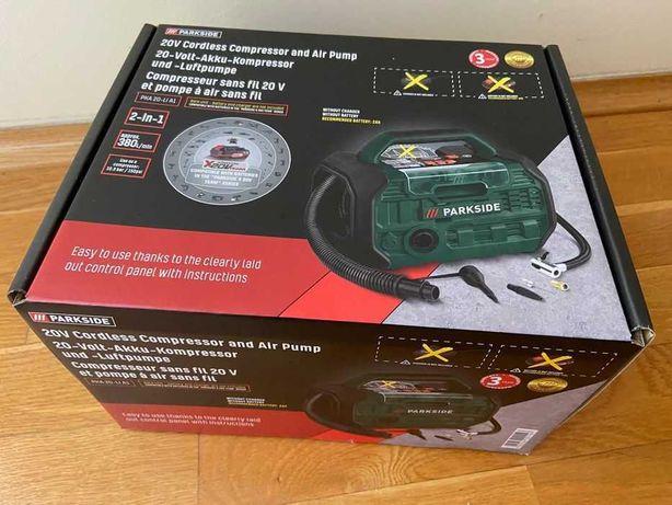 Kompresor i pompa akumulatorowa 2w1 Parkside PKA 20-Li A1 NOWOŚĆ