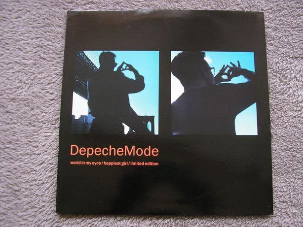 """Depeche Mode 1990 UK. World In My Eyes / Happiest Girl 12"""",Single,Ltd."""