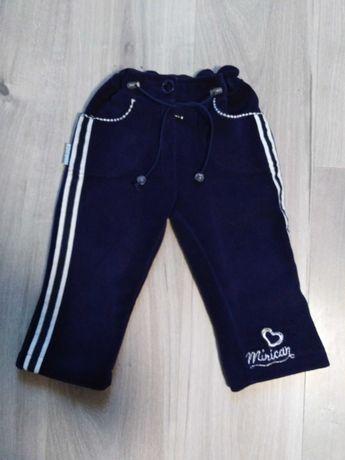 Ciepłe polarowe spodnie r. 104 (4 lata)