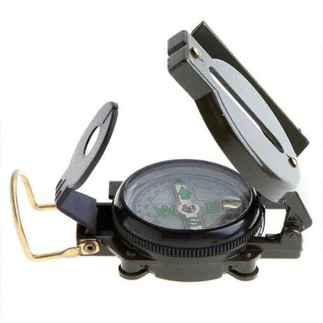 Bússola de lente Nova + Bolsa - Kits de sobrevivência para caminhadas