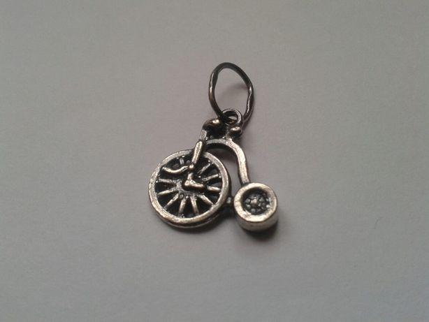 Серебряный кулон-сувенир Велосипед Пенни-фартинг (старинный велосипед)