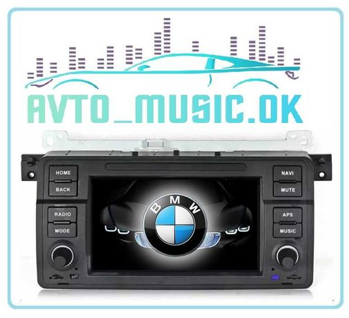 Штатная магнитола BMW E46, Android 10, USB, GPS