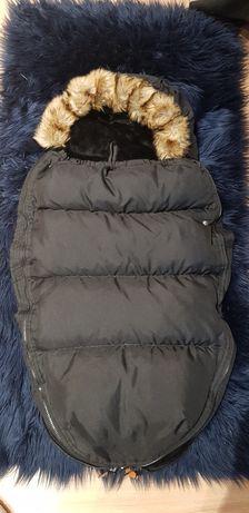 Śpiworek zimowy z futerkiem 90 cm