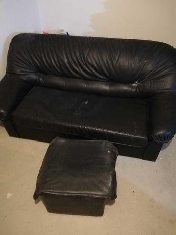 Sofa fotel czarny rozkladany