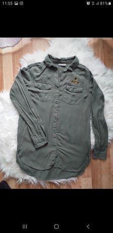 Dłuższa koszula w kolorze khaki