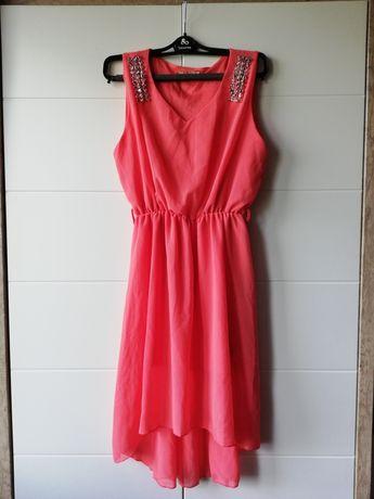 Koralowa sukienka S