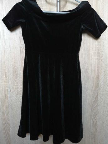 Elegancka czarna sukienka 8-10 lat, 134/140