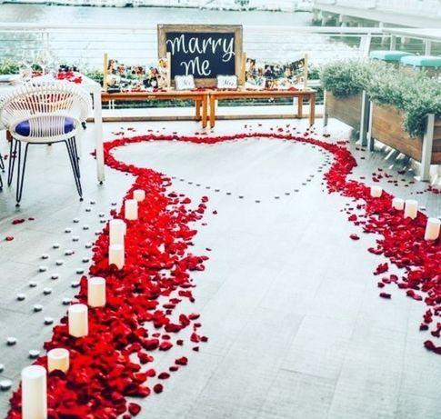 Лепестки роз свеж.1КГ. 2000шт.Подарок на 8 Марта на 8 Березня,романтик
