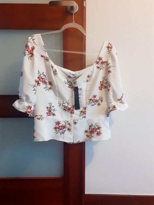 Przepiękna bluzeczka w kwiaty hiszpanka modna insta swag hippie boho Warszawa - image 1