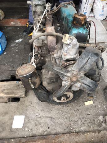Двигун, мотор, двигатель з коробкою газ-21