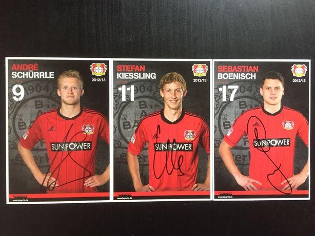 Autografy Bayer Leverkusen – Schurrle, Kiessling, Boenisch