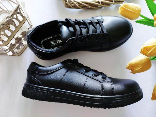 40 (26 см) Новые кожаные демисезонные ботинки кроссовки кожа