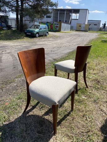 Krzesła proj Jindrich Halabala model h214 art deco