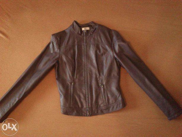 ORSAY fioletowa skóropodobna kurtka na stójce rozmiar 38