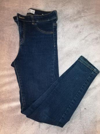 Spodnie damskie, rurki z wyższym stanem