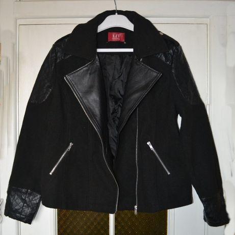 Пальто-косуха LIV collection черного цвета