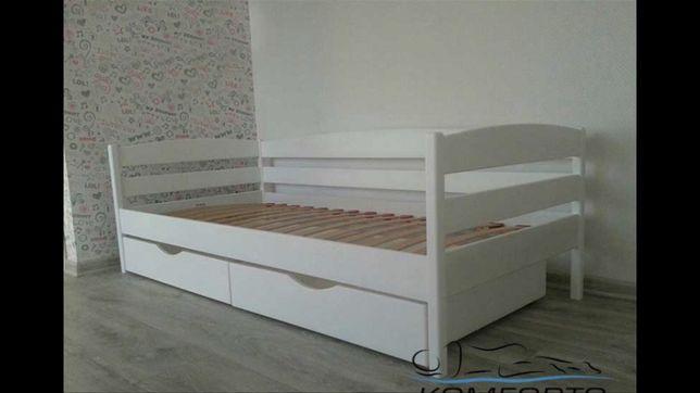 Ліжко. Деревянная кровать нота плюс