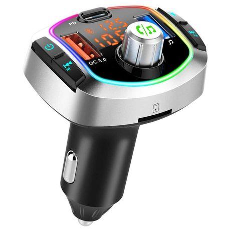 ФМ трансмиттер модулятор QC3.0 / Быстрая зарядка /Bluetooth V5.0