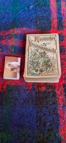 Stara niemiecka książeczka z cytcytatami na każdy dzień roku