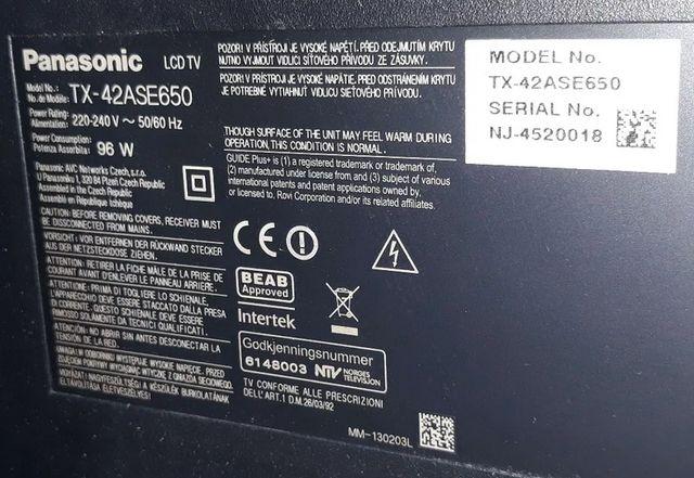 Zasilacz TXN/P1ZGUB do TV Panasonic TX-42ASE650