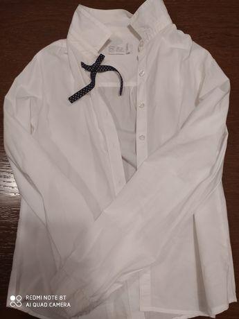 Koszula na rozpoczęcie roku, biała w kokardką, Cool Club