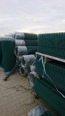Siatka ogrodzeniowa ocynk powlekana 3mm 60x60 zielona grafitowa czarna