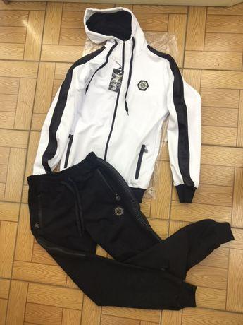 Спортивный мужской костюм белого цвета Филип Плэйн люкскачество новый