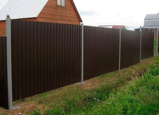 Забор из профнастила ворота откатные ворота распашные калитки