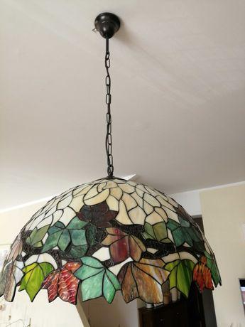 Wisząca lampa TIFFANY (kasztan) + abażur do lampy stojącej