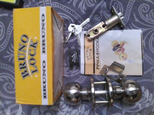 Ручка -кнопка,кнобсет,дверная ручка замок Bruno lock
