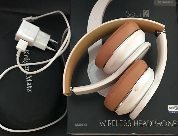 Słuchawki bezprzewodowe SOUL2, białe, pudełko