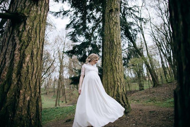Весільна сукня для вагітної.
