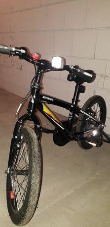 Rower 16 cali z kółkami bocznymi