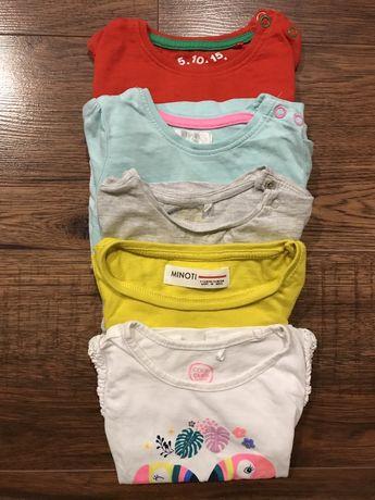 Zestaw paczka koszulek 68 - 74