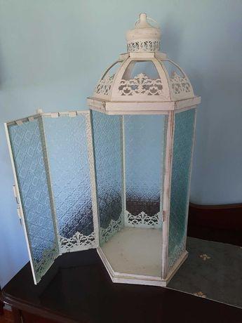 Lanterna antiga oriental grande -Shabby Chic-