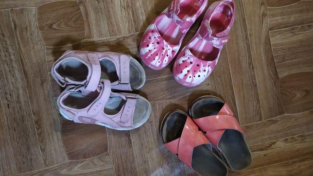 Обувь на девочку, шлепки, босоножки 28-29размер