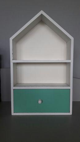 Półka, domek dekoracyjny z szufladką