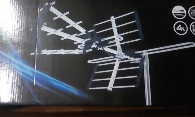 Antena do odbioru telewizji naziemnej i cyfrowej DVB-T z filtrem LTE