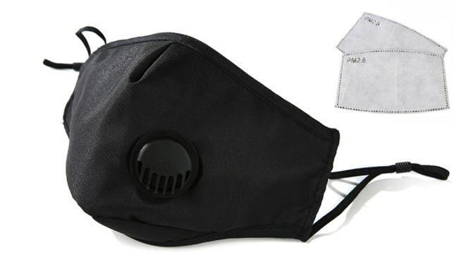 Maska na twarz +2x Filtr pm 2,5 wielokrotny uzytek
