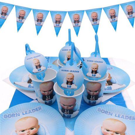 """Декор дня рождения """"Босс Молокосос"""" набор кенди бар, шарики"""