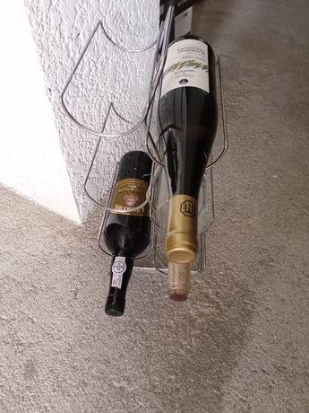 Garrafeira - suporte de  garrafas em metal (inox)